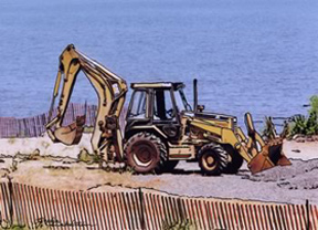 tractor on Laurence Harbor NJ beach